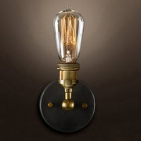 Indoor Lighting Modern Vintage Loft Sconce Wall Lamps LED E27 Edison Bulb Plated Iron Retro Industrial Lamp Lighting Bedside Wall Lamps Fixtures