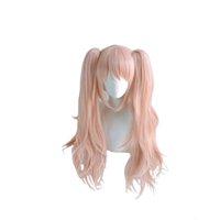 DangAnronpa: gatillo Happy Havoc Women Enoshima Junko Cosplay Peluca Naranja Rosa Pinkable Panalas Pelucas Pelucas de Traje