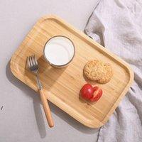 Кухонные блюда Square Dessert Biscuit Plain Plain Plane Набор лотков Деревянная чашка Чаша Подушка Посуда Посуды Лоток Фрукты Вудс Плиты NHA4769