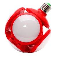 Bulbos LED Luz plegable Fútbol Iluminación Garaje 40W 6500K Luz de día Blanco Calle y luces de área E27 Medio base Crestech168