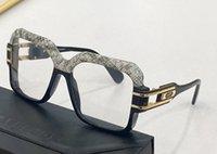 Vintage Legends Eyeglasses 623 Half Leather Frame Gold Black Clear Lens Men Fashion Sunglasses Frames with Box