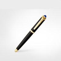 Luxury Balance Marca Black Rose Chapado en oro Plumas de fuente de acero inoxidable Caballamiento de material de oficina Escuela de oficina de escritura de papelería
