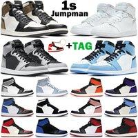 Basketbol Ayakkabıları 1 S Erkek Kadın Jumpman 1 Orta Elektro Turuncu Hiper Kraliyet Gölge 2.0 Üniversitesi Mavi Sinyal Çim Chicago Erkek Eğitmenler Sneakers