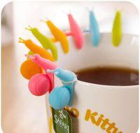 Coffee sets drinkware cozinha, bar bar home jardim gota entrega 2021 5 pcs caracol bonito sile sile saco de chá titular caneca candy cores gi