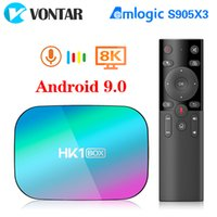 VONTAR HK1 BOX 8K 4GB 128GB TV Box Amlogic S905X3 Android 9.0 1000M Dual Wifi 4K 60fps GooglePlay Youtube Media Player