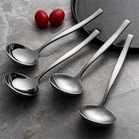 304 корейская посуда из нержавеющей стали утолщенная длинная ручка маленькая ложка суп ложки 075