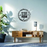 Wall Stickers Cartoon Music Sticker Self Adhesive Waterproof Art Decal For Kids Rooms Decor Diy Home Decoration Accessories