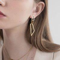 Women Jewelry European and American Irregular Chain Drop Earrings Women's Polygonal Splicing Earring Ladies Gift AL9032