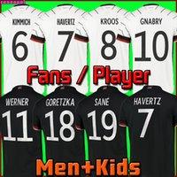 ألمانيا لكرة القدم جيرسي 2020 2021 مشجعي المشجعين نسخة فيرنر هافرز سان مولر هامللز غوريتزا ريوس الأوروبي كأس كرة القدم قميص زي الرجال + أطفال كيت
