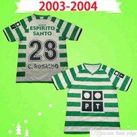 Sporting Lissabon Retro 2003 2004 Soccer-Trikots # 28 C.Ronaldo 03 04 Vintage Maillot Danny Camisa de Futebol SA Pinto Classic Football Hemd Top Uniformen