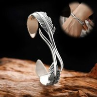 Bangle Fashion Open Adjustable Feather Shape For Men Women Classic Jewelry Gift Accessories Bangles
