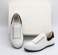 Kutu Tasarımcılar Ile ACE Kadınlar Beyaz Rahat Tuval Ayakkabı Moda Kız Bayan Platformu Boy Bayan Ayakkabı Espadrille Düz Sneakers Boyutu 35-40
