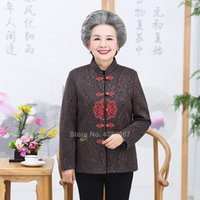 Ethnic Clothing Chinese Traditional Tang Suit Year Floral Elegant Women Old Lady Full Sleeve Jacket Spring Festival Vintage Tops Grandma