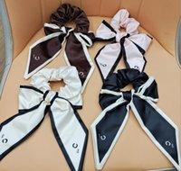 9 Stijl Dames Designer Letter Printing Haar Rubber Band Bowknot Elastische Haarkabel Paardenstaart Houder Luxe Hoge Kwaliteit Pure Katoen Haaraccessoires Sieraden