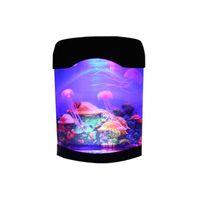 Medusas LED Lámpara Creativa Hermosa Aquarium Night Tank Tanque Natación Mood Lights Durable Decoración del hogar Simulación Crestech168