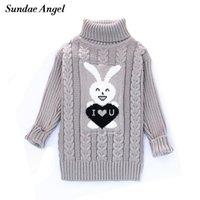 Jersey Sundae Angel Suéter para Chica Cuello de giro de manga larga patrón de invierno espesando niños niños niños suéteres niños