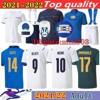 2021 2022 İtalya Finalleri Chiellini Futbol Jersey Kitleri 20 21 22 Italia Chiesa Bonucci Jorginho Insigne Verratti Spinazzola Barella Italie Futbol Gömlek Setleri