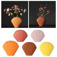 Ceramic Vase Living Room Bedroom Decoration Ornaments Modern Vases For Flower Arrangements Shell Shape Design