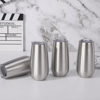 6oz mugs champagne flute wine tumbler Stainless Steel wiine glasses Vacuum Insulated double wall coffee mug travel cups