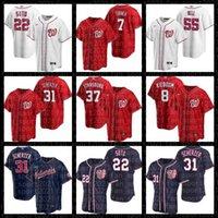 31 Max Scherzer 22 Juan Soto 55 Josh Bell 8 Carter Kieboom 7 Turner Washington Victor Robles Nationals 44 Daniel Hudson Baseball Jersey