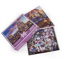 US In Stock Custom Promotional Gifts Kids Adult Toys puzzl Purple Castle 1000 piece jigsaw puzzleDKY1
