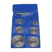 Accessori per utensili elettrici a mano 6 sega lama ad alta velocità-acciaio circolare rotella rotante dischi mandrino per utensili taglio legno taglio