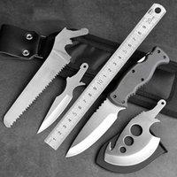 Kamp Avcılık Bıçak Sabit Düz Bıçak Açık Survival Taktik Yürüyüş Bıçakları Kendini Savunma EDC Araçları Soğuk Çelik Aracı Seti