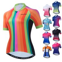 Racing Jackets Weimostar Rainbow Cycling Clothing Short Sleeve Summer Women's Jersey Breathable MTB Bike Quick Dry Bicycle Shirt