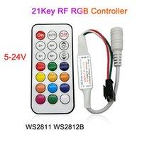 LED WS2812B 컨트롤러 DC 5V 12V 24V RGB LED 컨트롤러 미니 14Key 2KY RF 원격 제어 SMD WS2811 WS2812B WS2813 WS2815 SK6812 주소 지정 가능한 RGB LED 스트립
