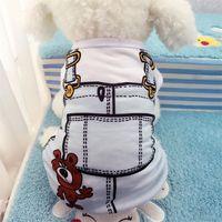 Chien Vêtements Vieruodis Coton Pet Vêtements Printemps Et Été Respirant Vêtements Soft Mignon Vêtements Puppy T-shirt Chihuahua Petit Moyen