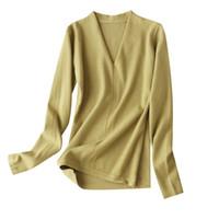 Normcore / Minimaliste осень V-образным вырезом вязаный свитер для женщин осень зима 2021 предметы с полным рукавом свитера, пуловеры женские свитера