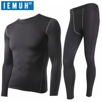 Men's Sleepwear IEMUH Winter Thermal Underwear Sets Men Quick Dry Anti-microbial Stretch Thermo Male Warm Long Johns Fitness