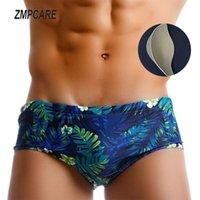 Men's Swimwear Sexy Men Swimsuit Sunga Masculina Mens Swimming Trunks Shorts With Push Up Pad Sungas De Praia Zwembroek Heren
