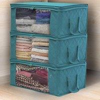 Contourcez le sac de rangement ménage pliable Vêtements non tissés à stockage Boîte à anti-poussière Stockage Storage Soutien-gorge Chaussettes Armoire Organisateur CCB9294