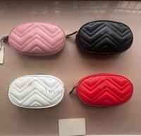 높은 허리 벨트 가방 휴대 전화 파우치 디자이너 최고 품질의 클래식 플립 어깨 가방 여성 소 가죽 지갑 레이디 지갑