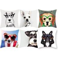 Padrão de cachorro Animal Travesseiro Tampa Sofá Capa de Almofada Super Material Super Macio Desenhos Animados Impresso Descanso 45 * 45cm T500974
