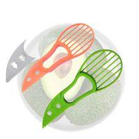 Multi-funzionale Avocado Special Knife Tools Combinazione Combinazione Tutti Affettatrice Artefatto Cutter Fruit Taglio della frutta Strumento Green Arancione Blade Serrated ZXFTL0497