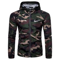 Men's Jackets Spring, Summer And Autumn Camping Jacket Camouflage Hooded Outdoor Sun Protection Clothing 3 Colors 4 Yards