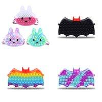 Finger Toys Fidget Bubble Bunny and Bat Coin Purse Chain Shoulder Bag Case Phone Wallet Bags Fashion Decompression Storage Toy DHL