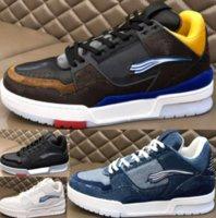 2021 hombres y mujeres zapatos casuales zapatillas de deporte zapatillas medias zapatillas de gamuza de gamuza de piel de becerro de becerro impresión de zapatos impresión en relieve plataforma de goma Sneaker Tamaño 39-44