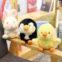 Rond panda cochon pingouin pingouin peluche animaux peluches dessin animé forme ronde amuste jolie poupée peluche poupée jouets pour enfants bébé jouets 201214