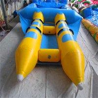 2.5x2.5m膨脹可能な4席フリフィッシュスポーツゲーム飛んでいる魚PVC 2チューブバナナボートの子供たちと大人の水公園のための大人