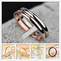 Couple's Very Thin Smooth Titanium Female Simple Food Tail Ring Stainless Steel Jewelry