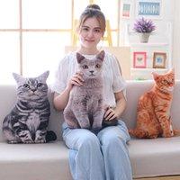 Babún 1pc 50cm simulación de felpa gato almohadas de peluche suave relleno animales cojín sofá decoración dibujos animados peluche juguetes para niños Niños Regalo Q0727