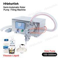 100-5000 мл полуавтоматический роторный насос насос крем для наполнения машины гель стиральный моющее средство для дезинфектора рук жидкий бутылка наполнитель ZS-RPYT900 DHL бесплатно