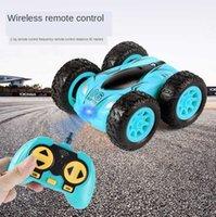 3,7 дюйма автомобиль RC 2.4G 4CH дрейфовый трюк двухсторонний отказов рок скалистый рулон 360 градусов Flip детские роботские игрушки 210907