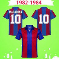 Barcelona jersey 1982 1984 الرجعية لكرة القدم الفانيلة # 10 maradona الرئيسية كرة القدم القمصان 82 84 خمر مايوه أعلى جودة camiseta de futbol