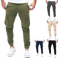 Брюки мужские бегуны сплошные цветные грузовые военные спортивные штаны многокарманские весенние мужские брюки спортивная одежда бедро карандаш