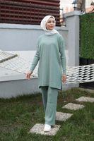 Butik Melike Women's Braid Detailed Suit Arrival Hijab Abaya Muslim Fashion Set Islamic Clothing Prayergarment Turkey Ethnic