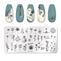 Pict You Nail Stamping Plates Flower Caratteri da fiore Pattern Nail Art Plate Plate Stencil Line Immagini Tema di Natale Piastre di immagine Stampo